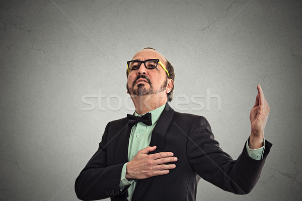 arrogant bold self-important uppity stuck up middle aged man  Stock photo © ichiosea