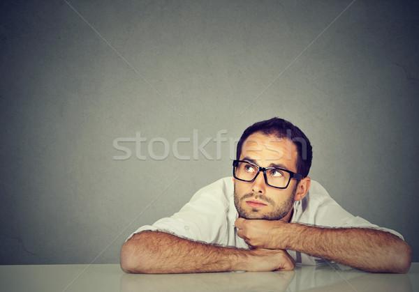 Gondolkodik üzletember arc férfi agy fiú Stock fotó © ichiosea
