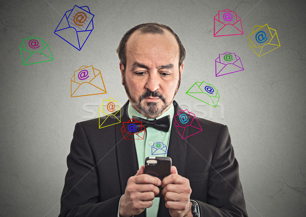 человека сообщение электронная почта смартфон деловой человек Сток-фото © ichiosea
