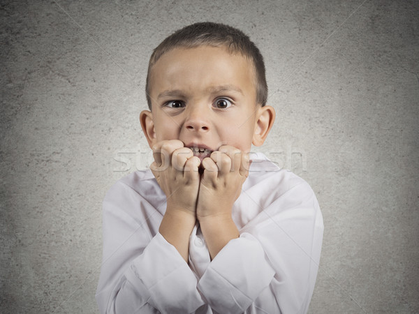 nervous anxious stressed child boy biting fingernails  Stock photo © ichiosea