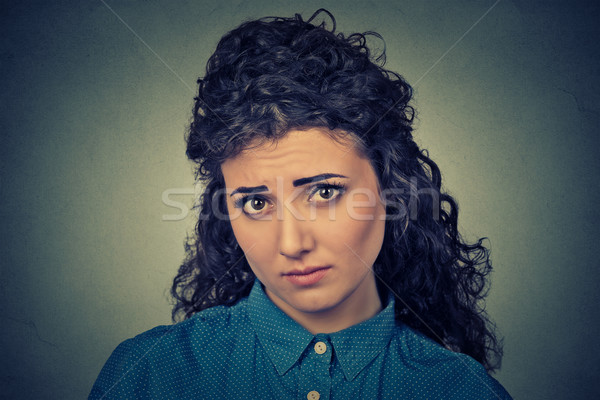 Tristeza mulher menina cara modelo retrato Foto stock © ichiosea