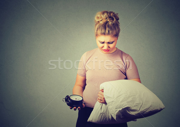 Sleepy young woman with pillow  Stock photo © ichiosea