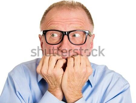 Angst portret senior man ongelukkig Stockfoto © ichiosea