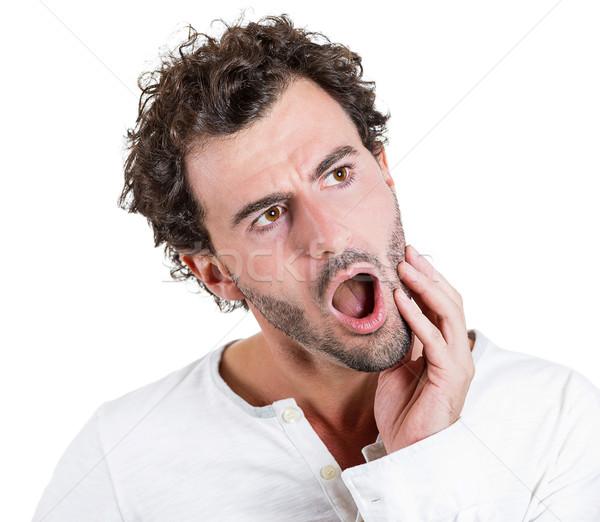 Ból zęba portret młody człowiek zębów ból Zdjęcia stock © ichiosea