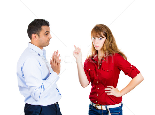 displeased woman, careless man Stock photo © ichiosea