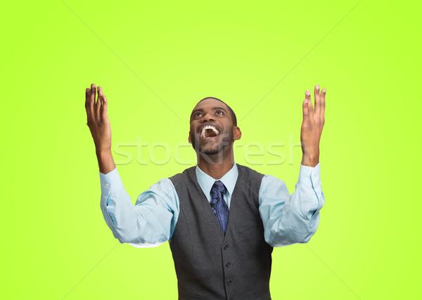 Izgatott boldog férfi siker jó kimenetel Stock fotó © ichiosea