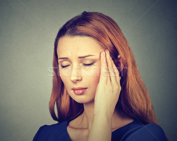 woman having headache, migraine  Stock photo © ichiosea
