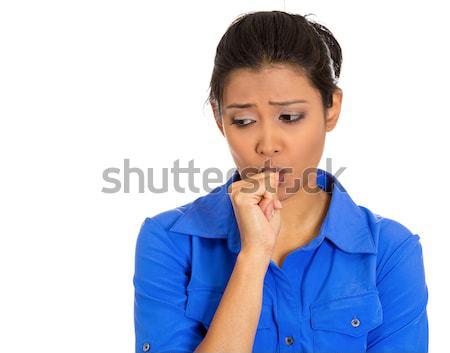 Donna pregando primo piano ritratto Foto d'archivio © ichiosea