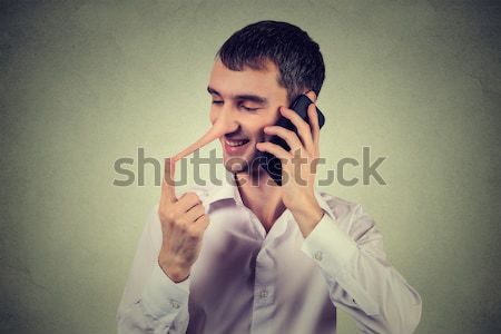 angry man, mad worker, pissed off employee shouting while on phone  Stock photo © ichiosea