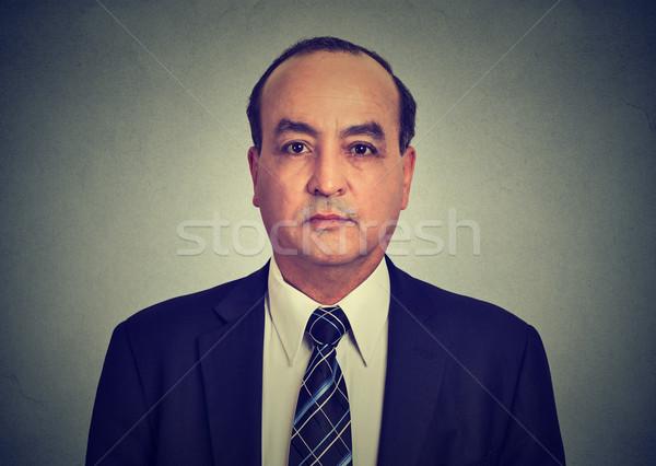 Fej vállak lövés középkorú üzletember öltöny Stock fotó © ichiosea