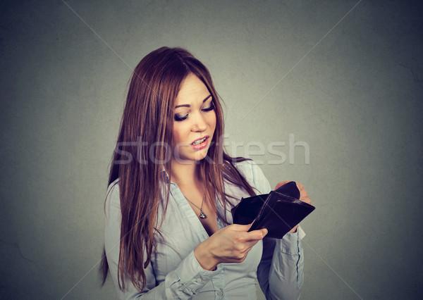 женщину нет денег печально деловая женщина глядя пусто Сток-фото © ichiosea