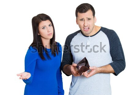 woman mad about husband spending  Stock photo © ichiosea