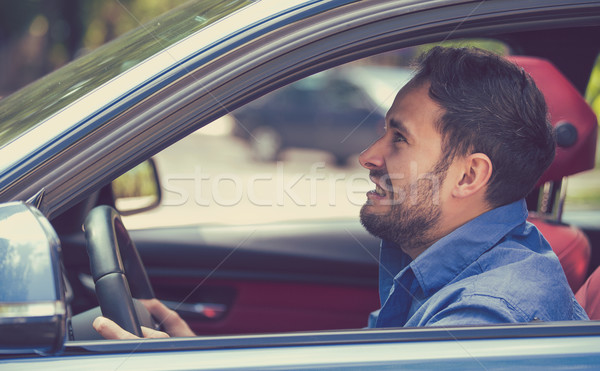 Side profile angry driver. Negative human emotions face expression  Stock photo © ichiosea