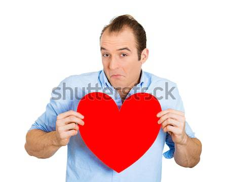 man holding broken heart Stock photo © ichiosea