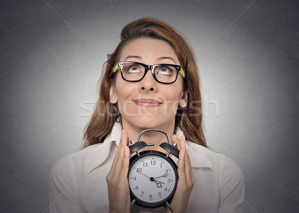 woman with alarm clock Stock photo © ichiosea