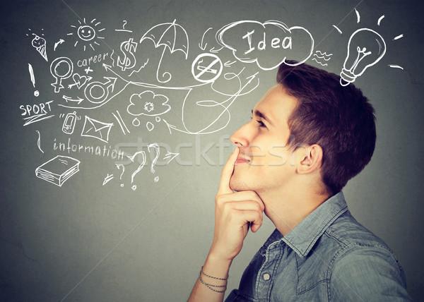 молодым человеком мышления многие Сток-фото © ichiosea
