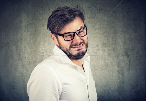 Portré férfi fiatalember divat fiú vicces Stock fotó © ichiosea