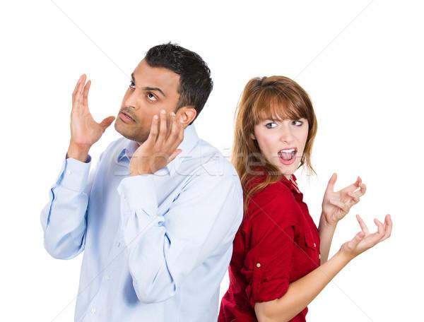 Arguing couple Stock photo © ichiosea