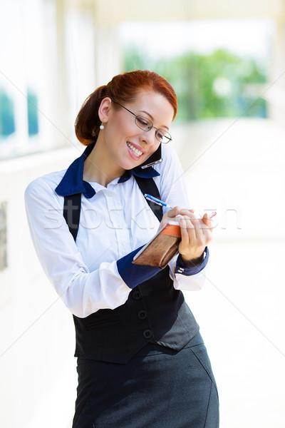 Сток-фото: занят · жизни · деловой · женщины · телефон · портрет