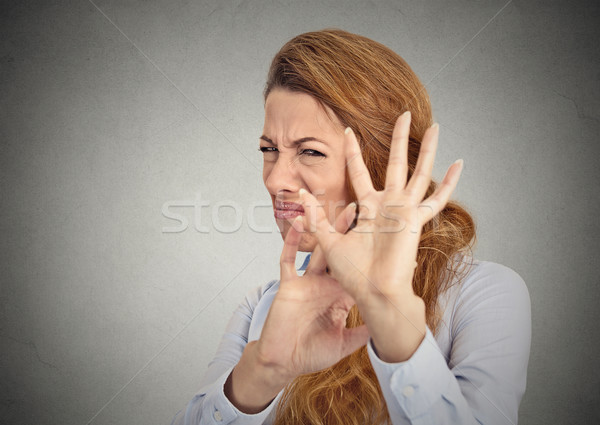 Disgusted woman Stock photo © ichiosea