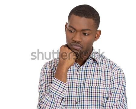 man daydreaming looking at the camera Stock photo © ichiosea