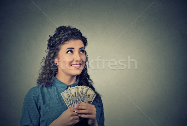Сток-фото: счастливым · успешный · деловой · женщины · деньги