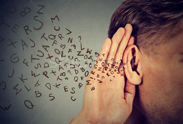 男 手 耳 慎重に アルファベット 文字 ストックフォト © ichiosea