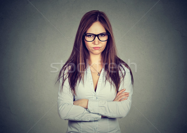 portrait angry displeased annoyed woman  Stock photo © ichiosea