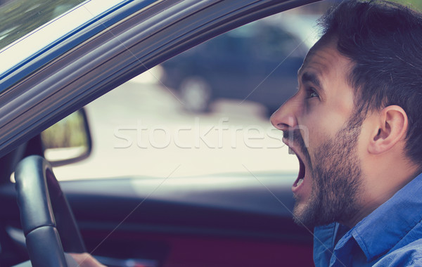 Side profile angry driver. Negative human emotions face expressi Stock photo © ichiosea