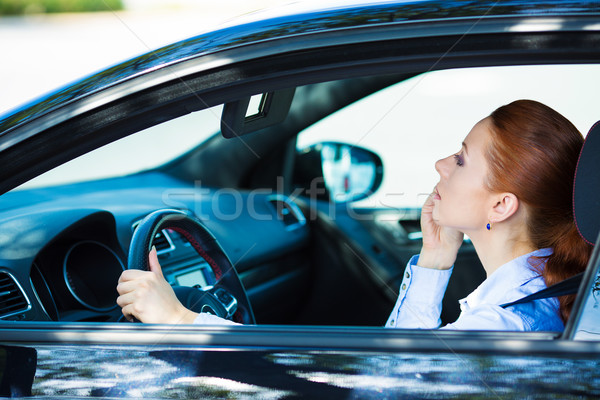Woman reckless driving Stock photo © ichiosea
