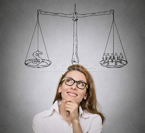 баланса женщину студент мышления жизни Сток-фото © ichiosea