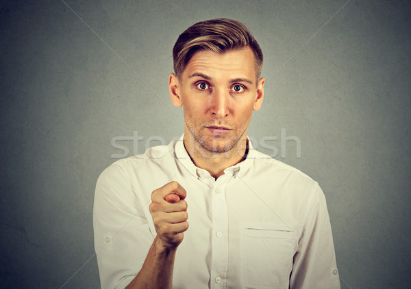 Man giving thumb, finger figa gesture you get zero nothing Stock photo © ichiosea