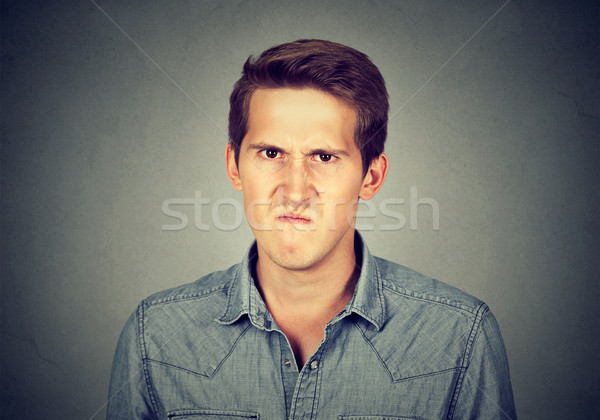 Angry young man, about to have nervous breakdown frustrated Stock photo © ichiosea