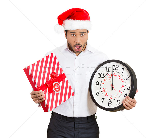 man holding clock stressed Stock photo © ichiosea