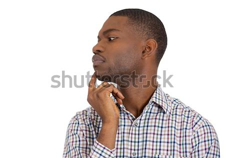 man looking away thinking deeply Stock photo © ichiosea