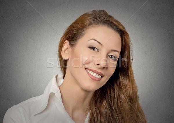 красивой молодые счастливым женщина улыбается женщину изолированный Сток-фото © ichiosea