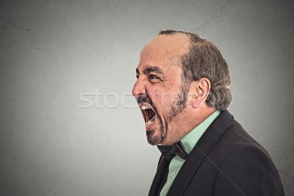 Zangado homem gritando retrato isolado Foto stock © ichiosea