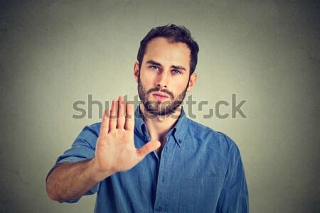 Disgusted man Stock photo © ichiosea