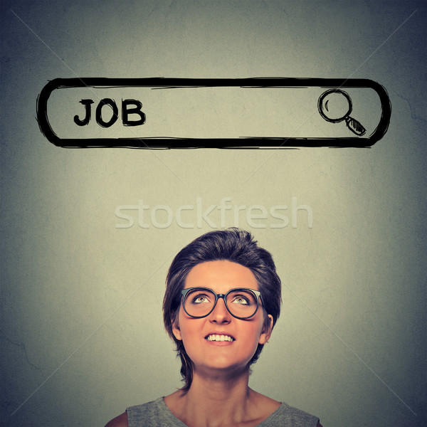 young woman in glasses smiling looking for a new job Stock photo © ichiosea