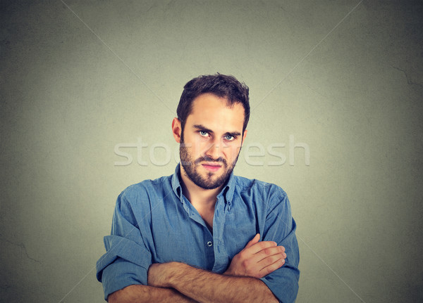 angry grumpy young man, about to have nervous breakdown Stock photo © ichiosea