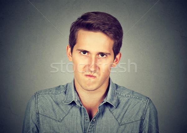 Sıkıntı öfkeli genç iş erkek Stok fotoğraf © ichiosea