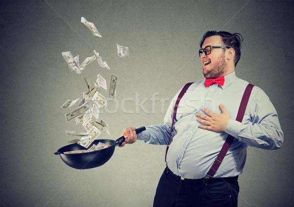 Férfi jómódú étterem üzlet pufók tartalom Stock fotó © ichiosea