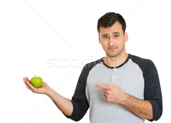 Mannelijke voedingsdeskundige portret gezonde jonge man Stockfoto © ichiosea