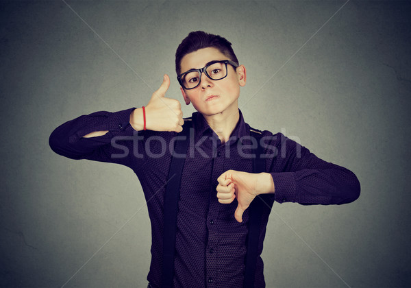 Człowiek w dół gest Zdjęcia stock © ichiosea
