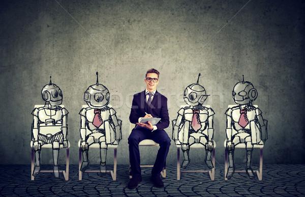 人間 対 ロボット 技術 ビジネス 仕事 ストックフォト © ichiosea