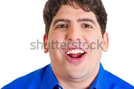 Wow portret młodych przystojny mężczyzna patrząc Zdjęcia stock © ichiosea