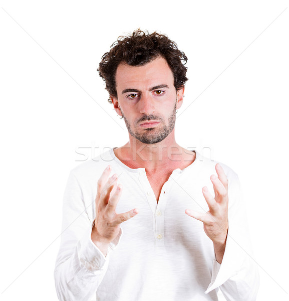 Verwarring portret jonge zakenman denken Stockfoto © ichiosea