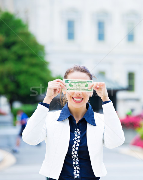 Corrupt female politician in washington DC Stock photo © ichiosea