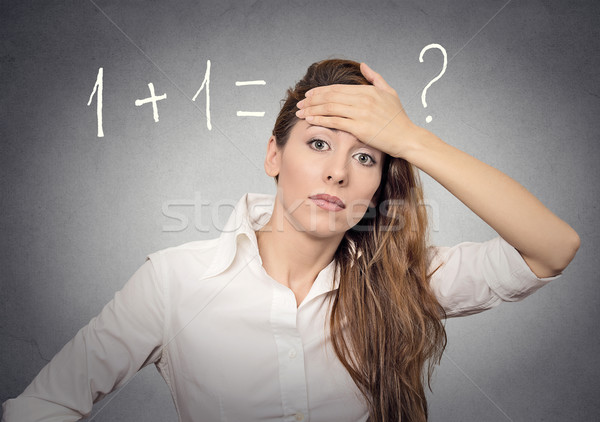 woman can't solve problem Stock photo © ichiosea