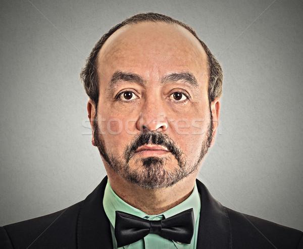 Férfi csokornyakkendő érett úriember visel izolált Stock fotó © ichiosea